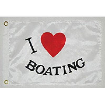 Флаг I LOVE BOATING