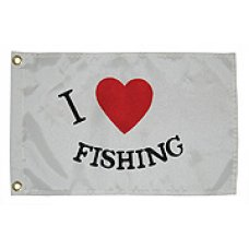 "Флаг ""I LOVE FISHING"""